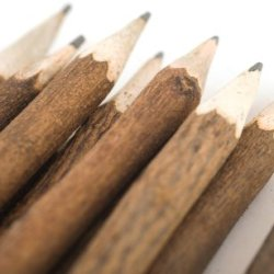 Indiary 10 Pieces Luxury Pencils Hand Carved From Genuine Neem Tree Branch 100% Natural Wood