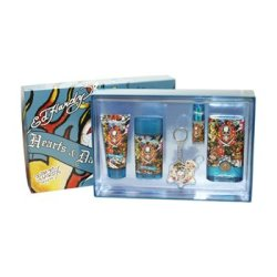 Hardy Hearts & Daggers Cologne By Christian Audigier For Men. 5 Pc. Gift Set