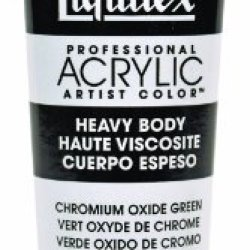Liquitex Professional Heavy Body Acrylic Paint 2-Oz Tube, Chromium Oxide Green