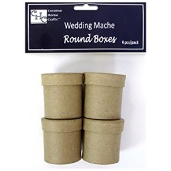 Paper Mache Mini Box 2 In. 4 Pc. By Craft Pedlars
