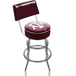 Texas A&M University Padded Bar Stool With Back Texas A&M University Padded Bar Stool With Back
