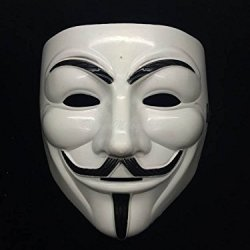 5Starservice New V For Vendetta Anonymous Masquerade Custome Guy Fawkes Mask