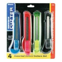 Bazic Assorted 6-Inch Multipurpose Cutter, 4 Per Pack