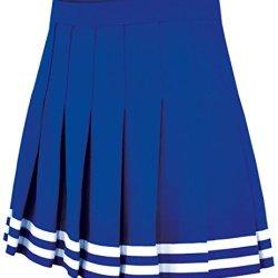 Double Knit Knife Pleat Skirt Royal Youth Medium