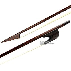 Master Old German Baroque Style Beautiful Snakewood 4/4 Double Bass Bow Strong 109G
