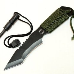 """7"""" Hunting Knife Carbon Steel Blade String Wrapped Handle"""