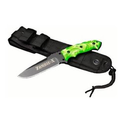 Hogue Fixed Blade Knife, Zombie Green
