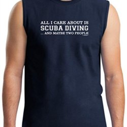 All I Care About Is Scuba Diving And Maybe 2 People Sleeveless T-Shirt Xl Navy