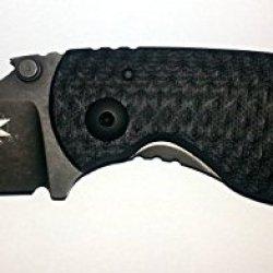 Dpx Gear Heat/F Grey Folding Knife,2.26In Elmax Steel Blade, Black G10 Handle Dphtf004