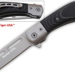 Msr-12 Trigger Assisted Barber'S Elite Straight Razor -Macarta Folding Knife Steel Sharp Edge Dagger Panthereses