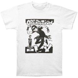Operation Ivy Men'S Skankin' White T-Shirt Medium White