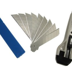 Sdi-0423 Snap-Off Utility Knife With 12 Set Of Sk2+Cr Blades, 18Mm Medium Duty Cutter