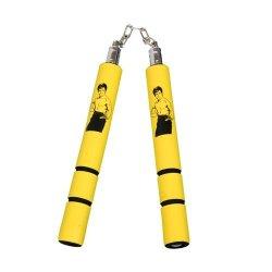 Playwell Foam Rubber Safety Training Nunchucks - Yellow Bruce Lee