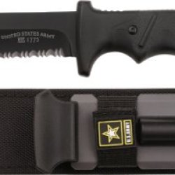 U.S. Army A-2001Bk Fixed Blade Knife, 10.25-Inch, Black