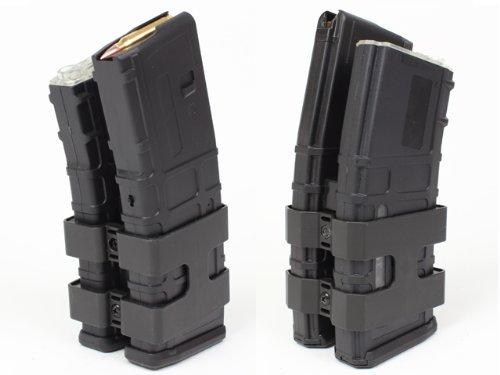 【音感センサーで弾を自動巻上げ】MAGPULタイプ PMAG 音感センサー電動ダブルマガジン/BK(ブラック)