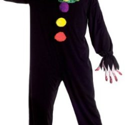 Boy'S Costume: Joker Jack - Size 10-12 *** Product Description: Creepy Clown/Joker Costume Includes Hooded Black Jumpsuit And Mask. Shoes, Socks And Prop Knife Are Not Included. Boy'S Size 10-12. ***
