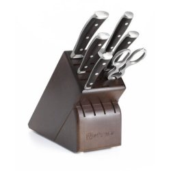 Wusthof Ikon 7-Piece Knife Set With Blackwood Handles And Storage Block