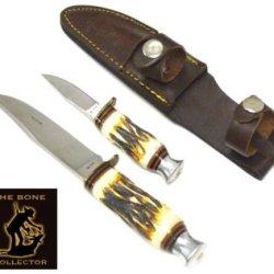 Bone Collector Bone Handle Pair Bc815 - Hunting Knives