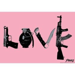 (13X19) Steez Love - Pink Art Poster Print