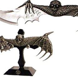 Fantasy Vampire Bat Display Knife Dagger W/ Stand