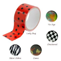 Set Of 5 Fun Different Printed Rolls Of Duct Tape - 10 Ft Each - Great Fot Arts And Crafts