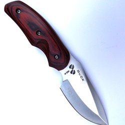 Steel And Hardwood Fixed Blade Bushcraft Hunting Knife. Delivered From Uk In 3-5 Working Days By Royal Mail Packet
