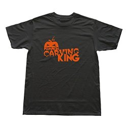 Men Pumpkin Carving King Custom Hot Black T Shirt By Rrg2G