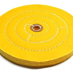"Buffing Wheel 8 Inch- Hard Premium - 1/2"" Arbor, Leather Centers"