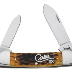 Case Cutlery 10132 Case Canoe Knife, Goldenrod Bone