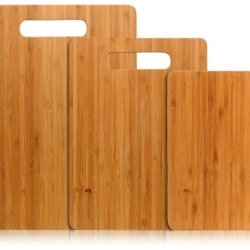 Three Cross-Layer Bamboo Cutting Board Set - 3 Cross Bamboo Layers Over Lapped Makes A Strong Bamboo Wood Cutting Board - The Boards Are Light Weight And Durable By Premium Bamboo
