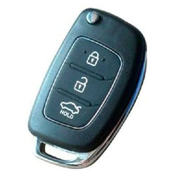 Replacement Shell Folding Flip Remote Key Case Fob For Hyundai I40 I45 3 Buttons