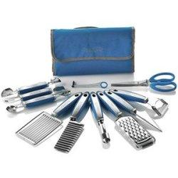 New Wolfgang Puck 12 Pc Garnish Essentials Set With Storage Case (Blue)