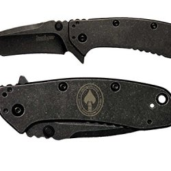 Socom Special Ops Command Seal Engraved Kershaw Cryo Ii Tanto Blackwash 1556Tbw Folding Speedsafe Pocket Knife By Ndz Performance