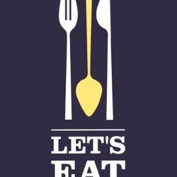 Let?Cos Eat High Quality Museum Wrap Canvas Print Genesis Duncan 11X14