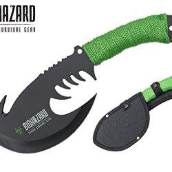 """Swordmaster - 11"""" Zombie Biohazard Throwing Axe Tactical Hunting Hatchet Survival Knife"""