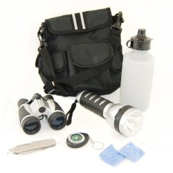 5Pc Camping And Hiking Set With Bag Nature Outdoors Bug Out Prepper