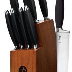 Ginsu 5829 Comfort Grip Series Black Cutlery Set, 10-Piece
