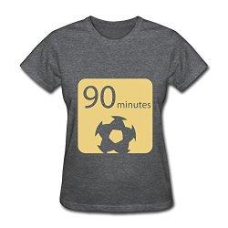 Women 90 Minutes Slim Fit T Shirts Size Xl Color Deepheather