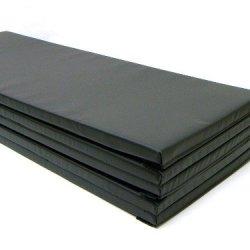 """Gymnastics Super Mat 2' Panel 5X10'X1-3/8"""" With Hook/Loop V-4 Black"""