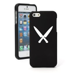 "Apple Iphone 6 (4.7"") Snap On 2 Piece Rubber Hard Case Cover Chef Knives (Black)"