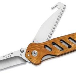 Buck Knives 0183Ors1 Alpha Crosslock Folding Knife, Orange