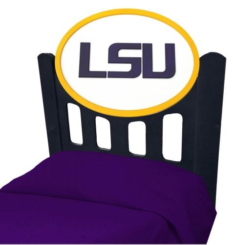 Image of LSU Tigers Louisiana State Kids Wooden Twin Headboard With Logo (C0526S-LSU)
