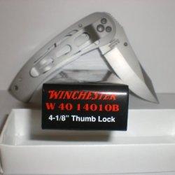 "Winchester Outdoorsman 4-1/8"" Thumb Lock W40 14010B New In Box"