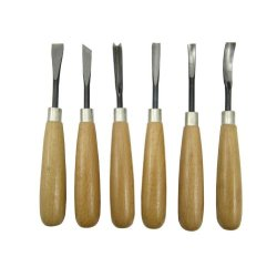 Wood Carvers Basic Tool Set With Straight Handles- 6 Piece