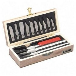 X-Acto : Knife Set, 3 Knives, 10 Blades, Carrying Case -:- Sold As 1 Ea