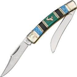 Colt Exotic Series Moose Folding Knife,Stainless Blade, Turquoise/Black Jet Handle Kc016-3.5""""