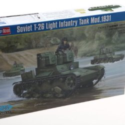 Hobby Boss Soviet T-26 Light Infantry Tank Model 1931 Vehicle Model Building Kit