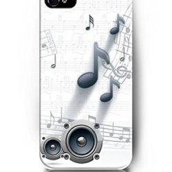 Exquisite Colored Pattern - Music Notes And Sounder - Ukase Back Case Cover Protector Skin For Iphone 5/5S