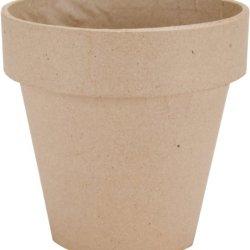 Dcc Paper Mache Flower Pot, 5-Inch