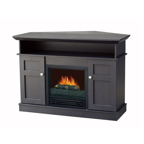 Image of Flametec 912C-42FCP 1250-Watt Electric Fireplaces Heater / TV Stand, Cappuccino (912C-42FCP)